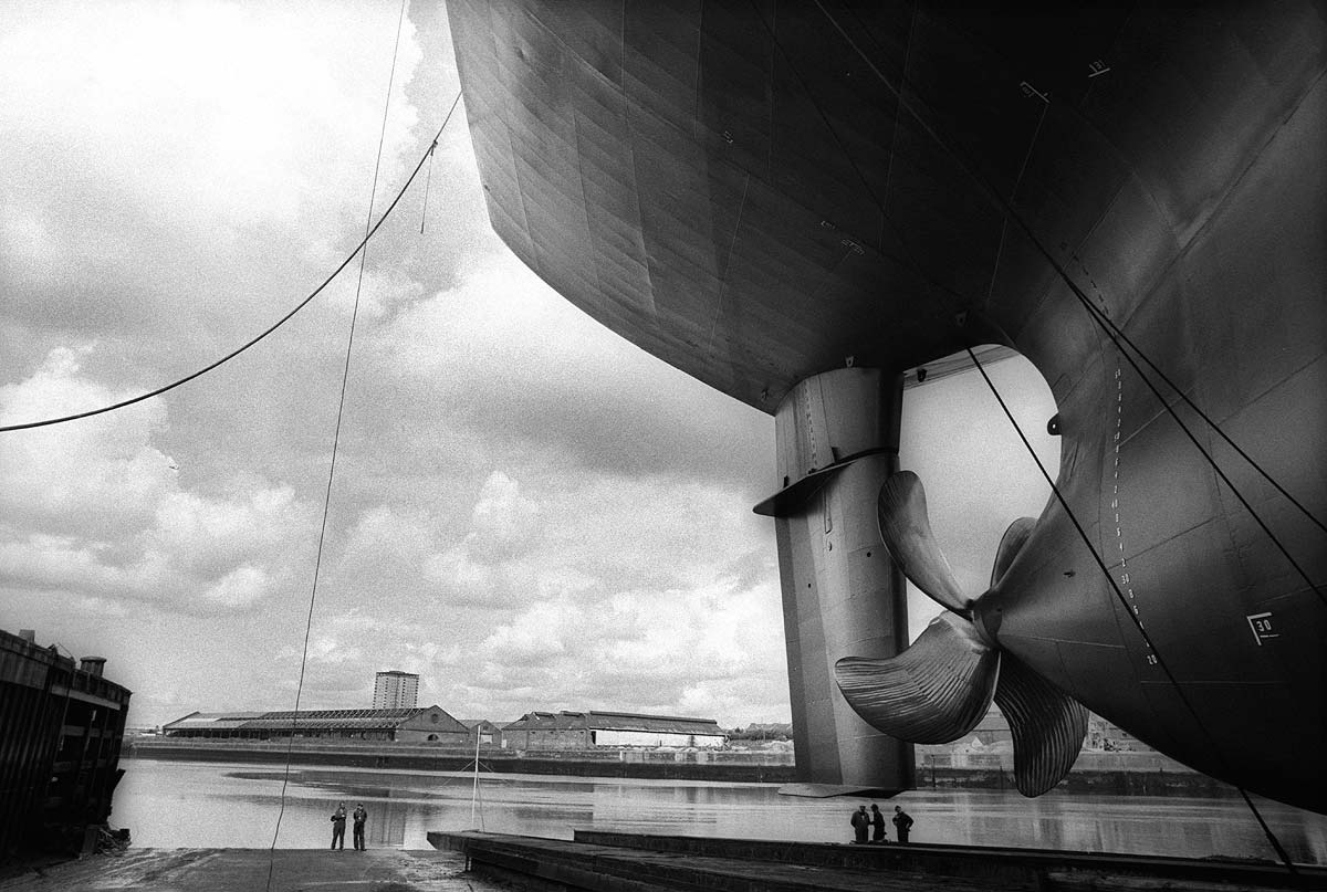 Shipbuilding on the River Clyde, by photographer Glasgow J. Sutton-Hibbert