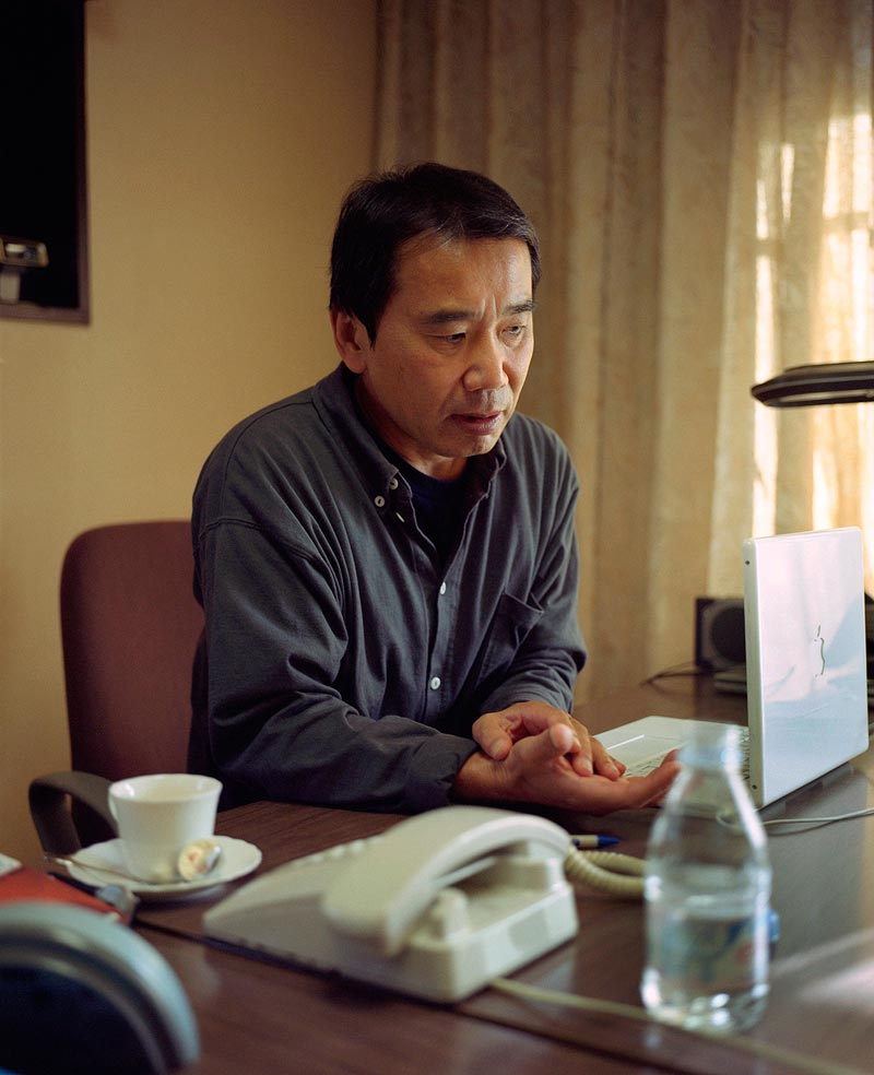 haruki Murakami, Japanese author - Scotland portrait photographer