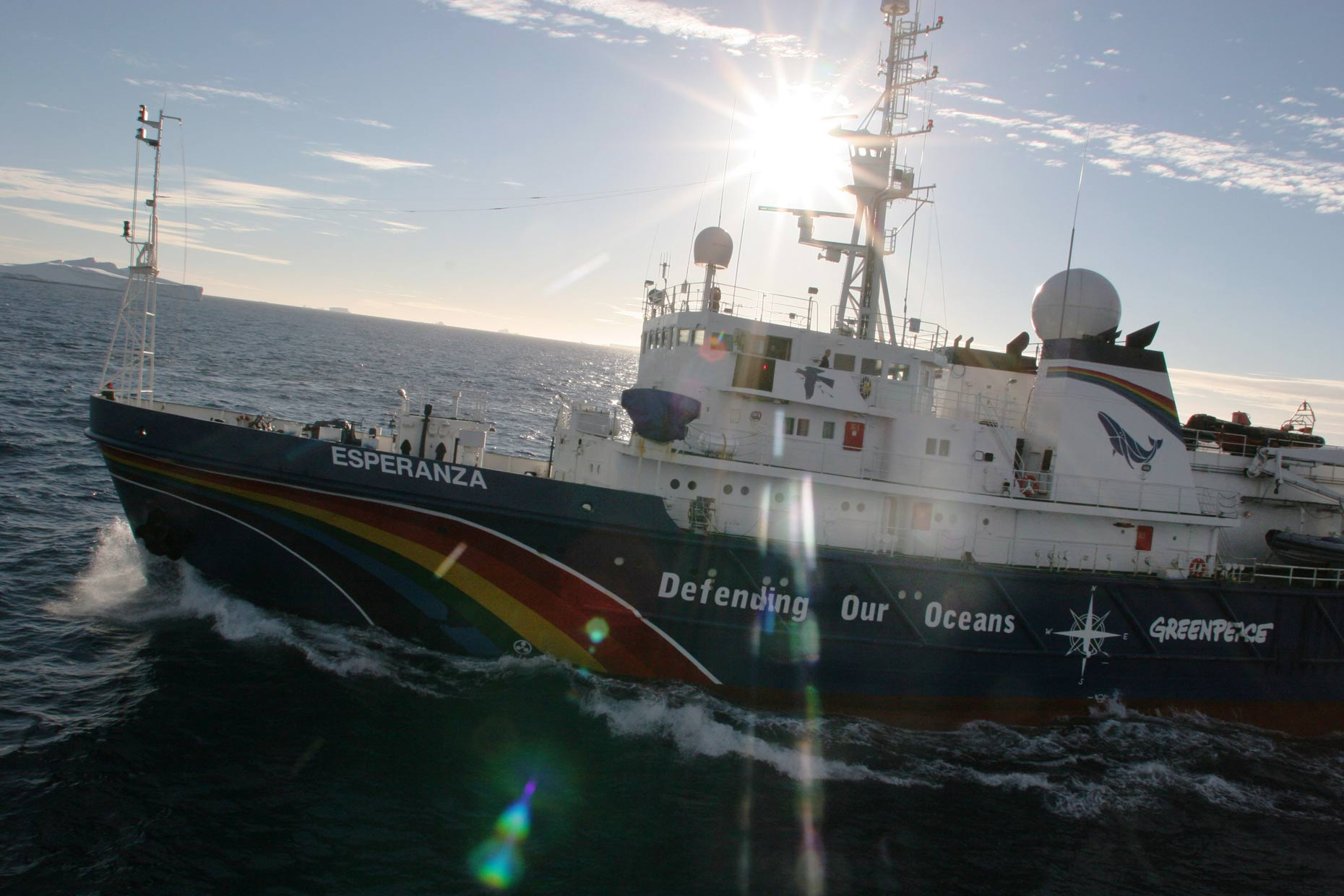 Greenpeace ship Esperanza, by Scotland photographer