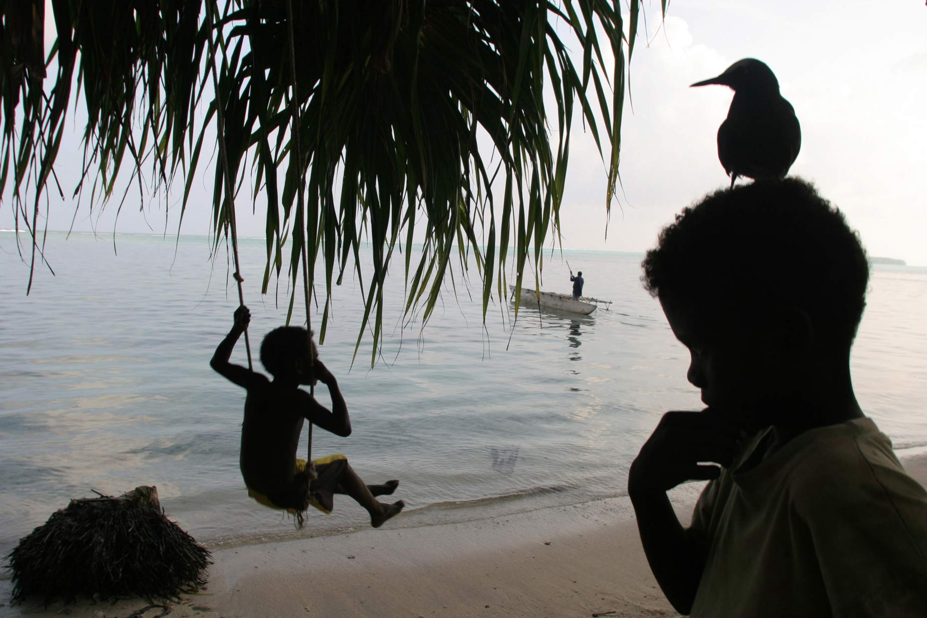 Children in Carterets Atoll, by Scotland Greenpeace photographer