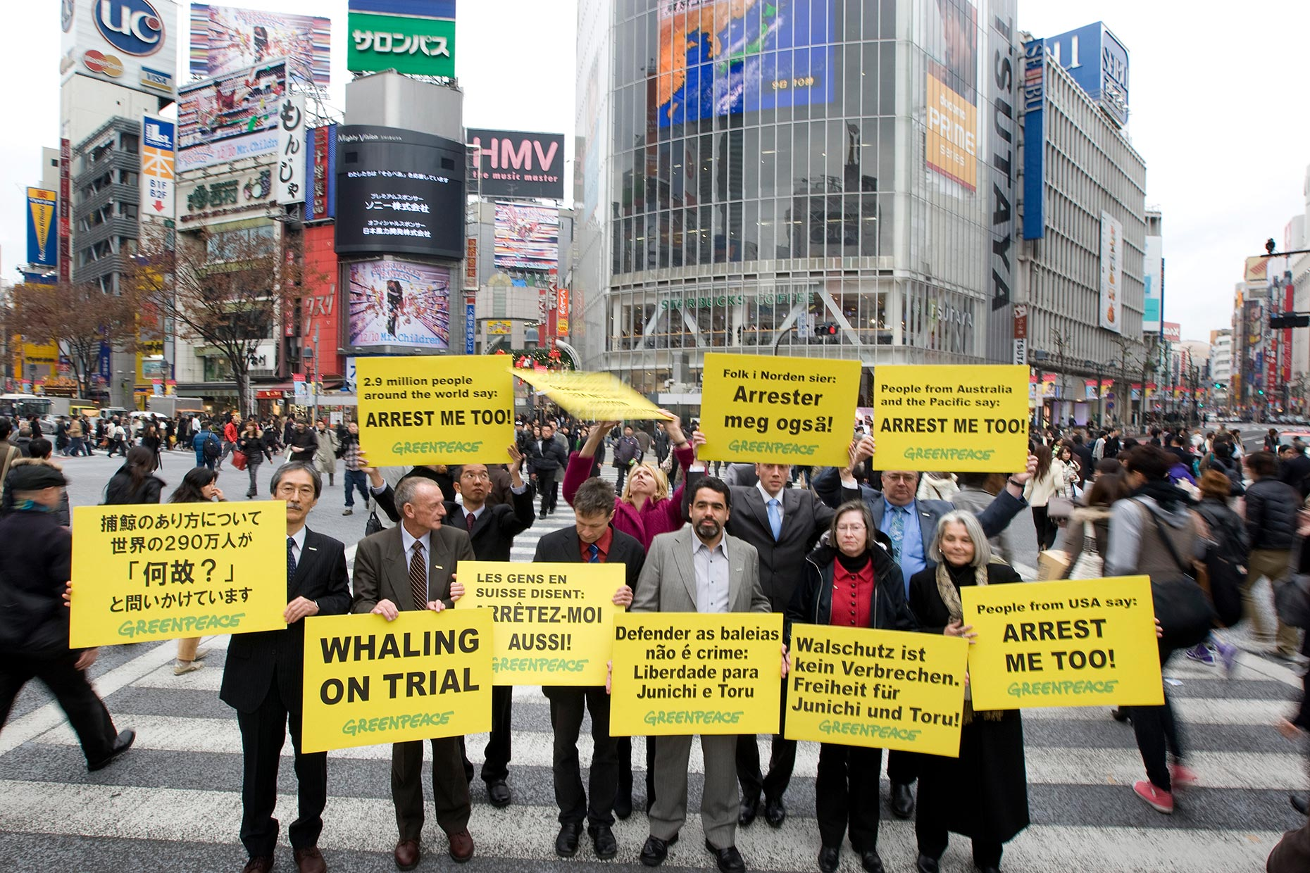 Greenpeace protest in Tokyo, by Scotland photographer