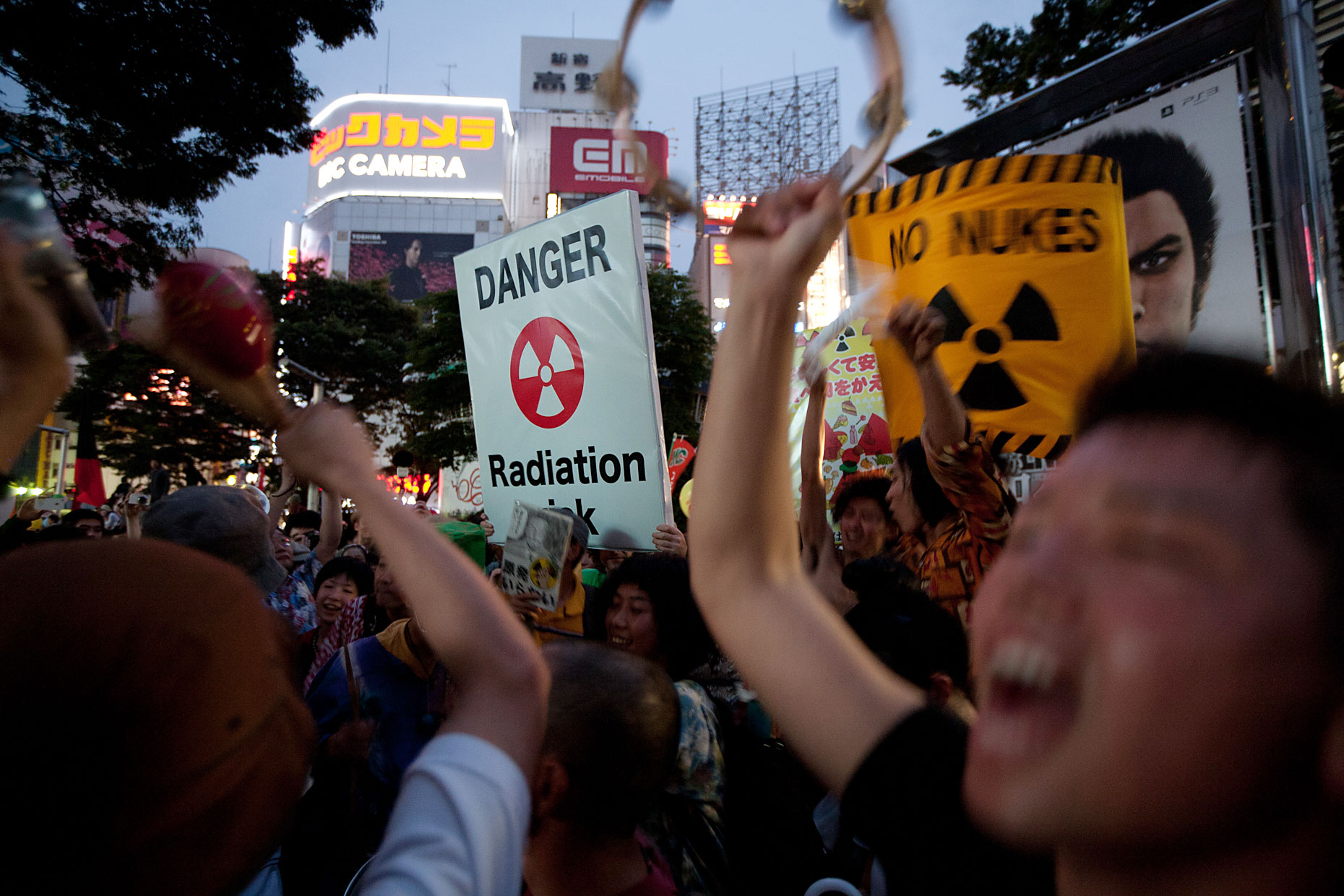 Anti-nuclear protests in Japan, by Scotland Greenpeace photographer
