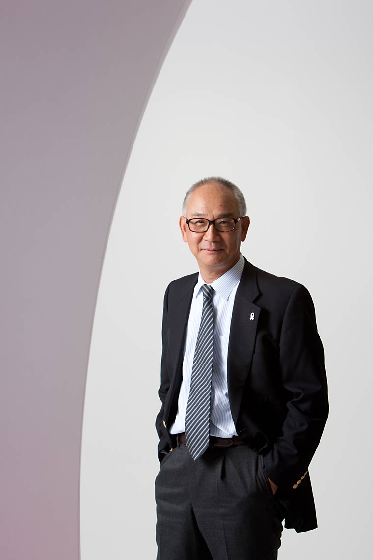 Portrait of Japanese business person, by photographer J. Sutton-Hibbert of Scotland