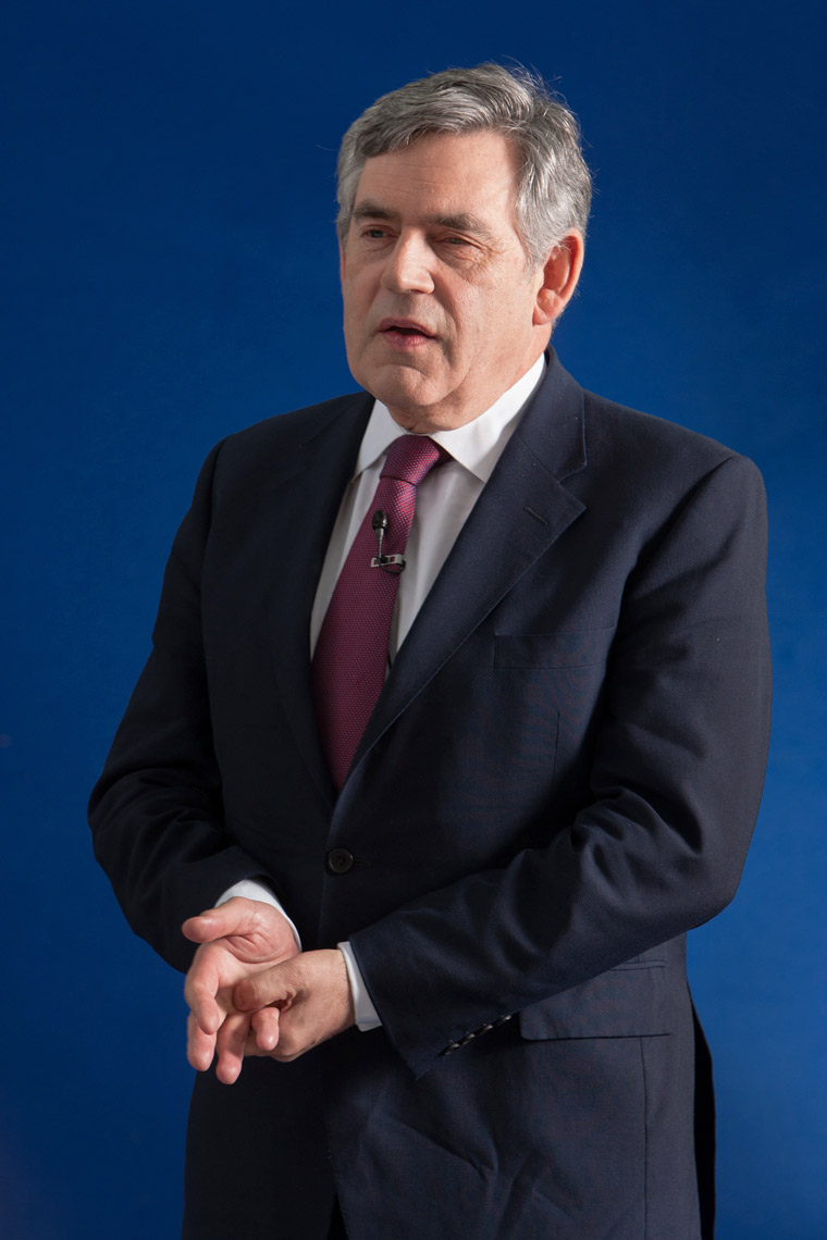 Portrait of Labour politician Gordon Brown, portrait by Scotland-based photographer Jeremy Sutton-Hibbert.