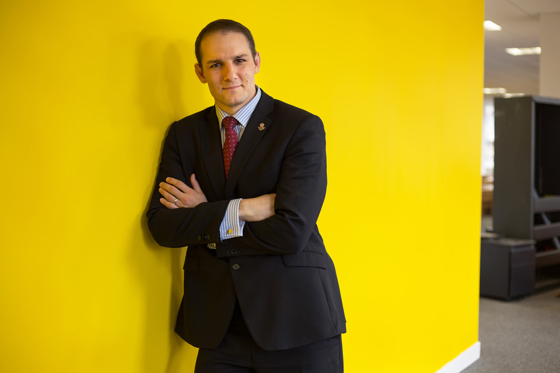 David Grevemberg in Scotland, portrait by photographer J. Sutton-Hibbert