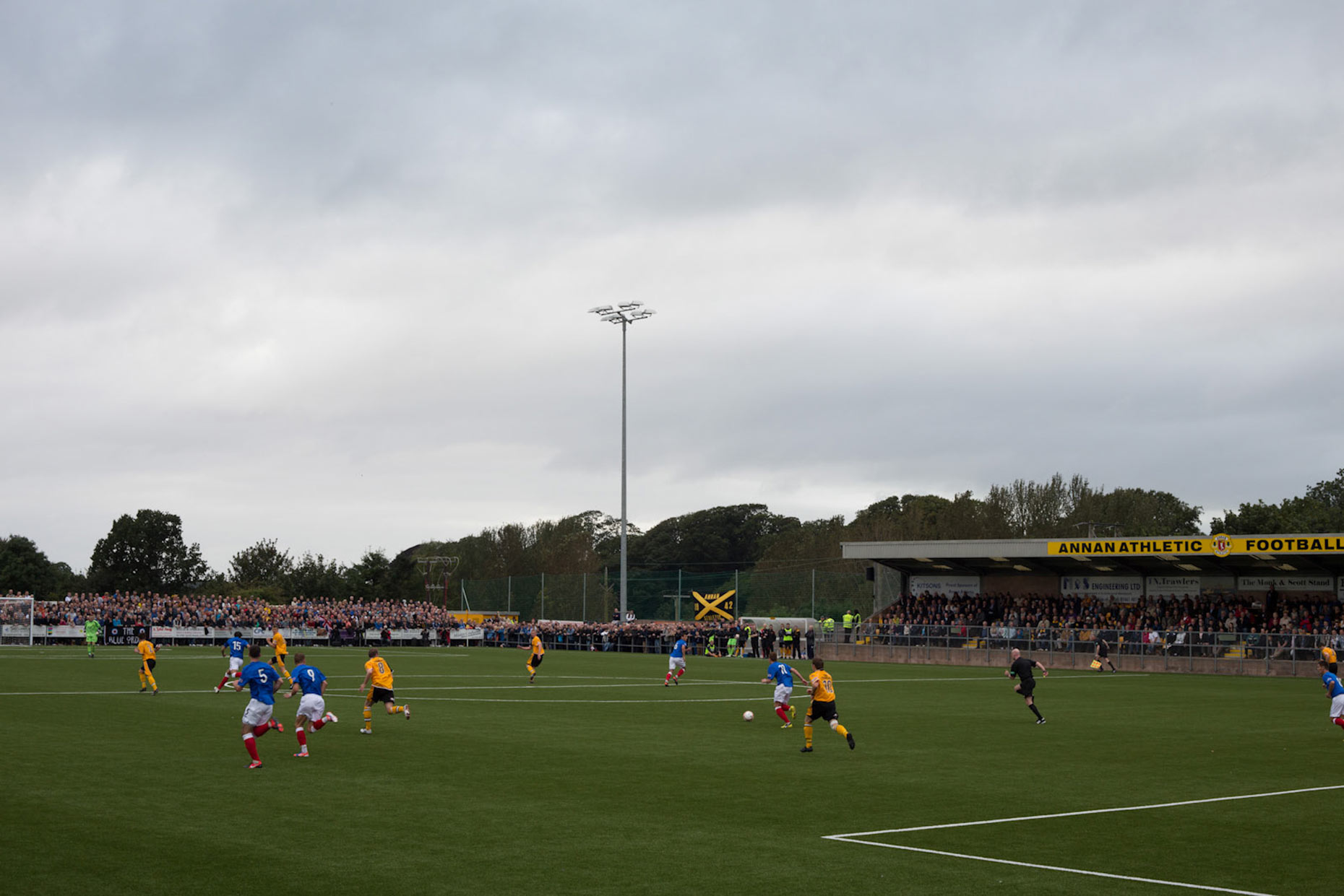 Rangers FC  in Annan, Scotland, by photographer Sutton-Hibbert