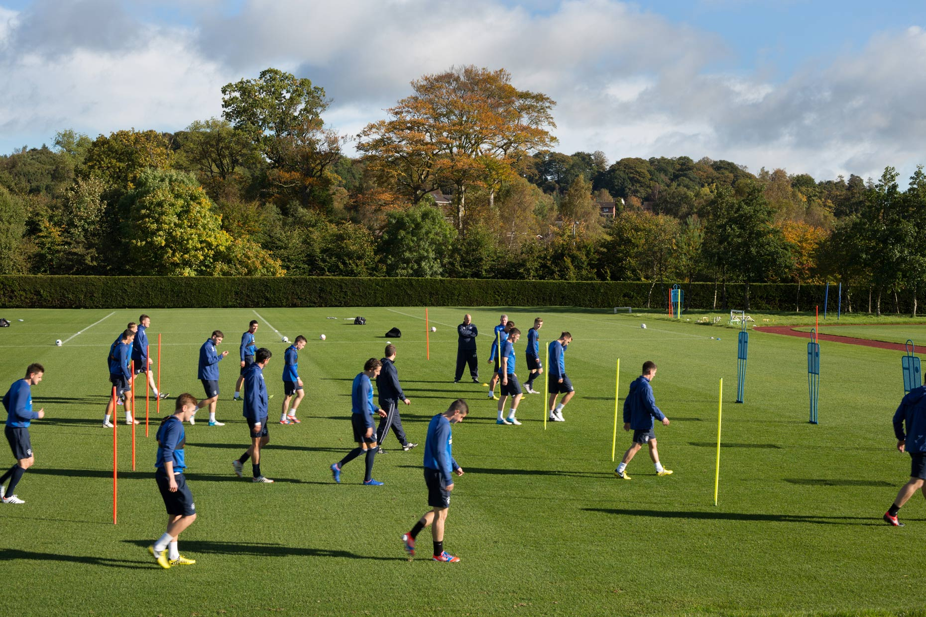 Rangers football club training in Scotland, by photographer Sutton-Hibbert