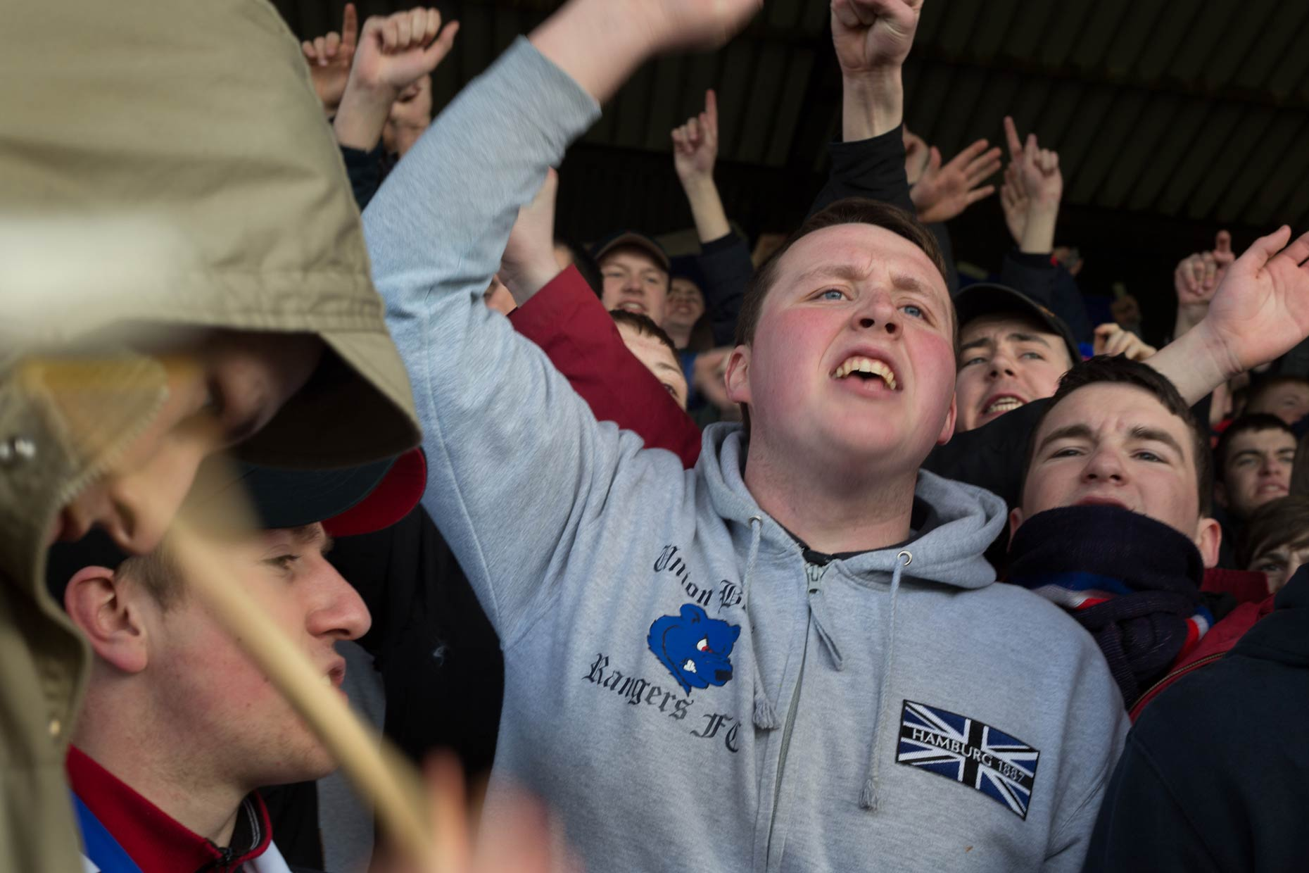 Rangers fans the Union Bears, Scotland, by photographer Sutton-Hibbert