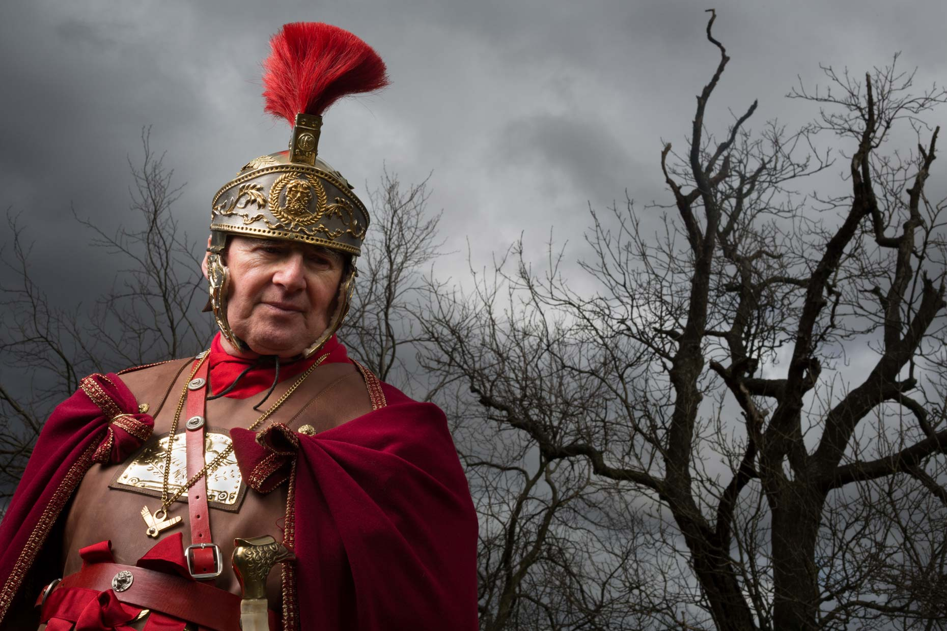 Portrait of Roman Centurion in Scotland
