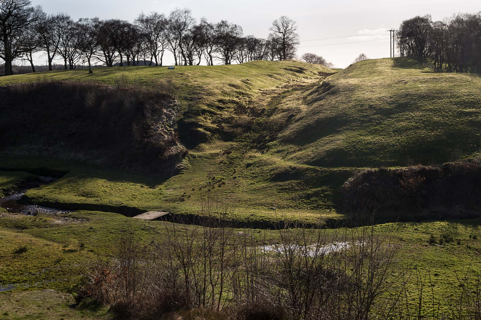 Rough Castle Antonine Wall by Glasgow photographer Sutton-Hibbert