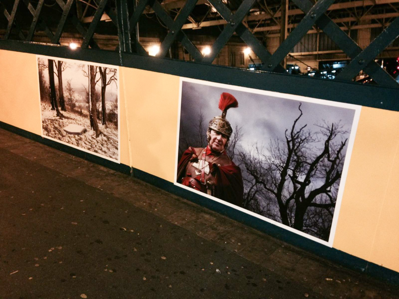 Street Level Photoworks installation at Carlisle Train Station