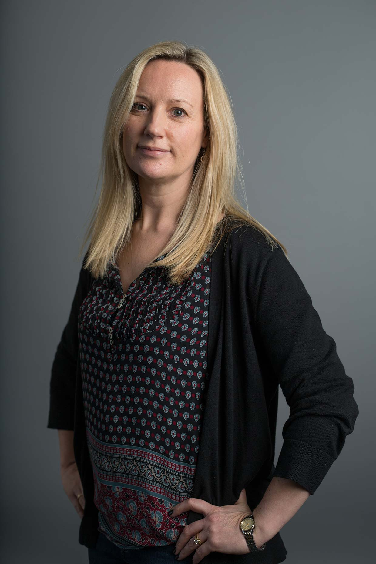 Portrait of youthful business woman by Scotland corporate photographer J. Sutton-Hibbert