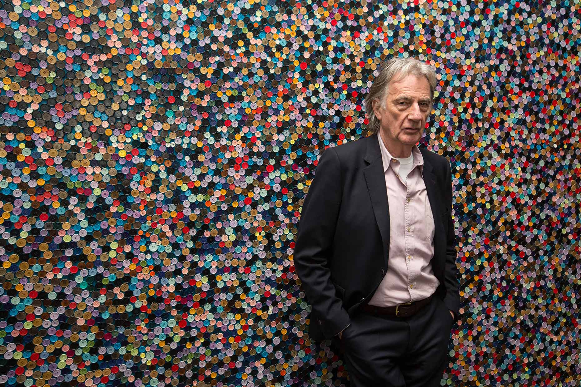 Paul Smith, fashion designer, portrait by Scottish photographer Jeremy Sutton-Hibbert.