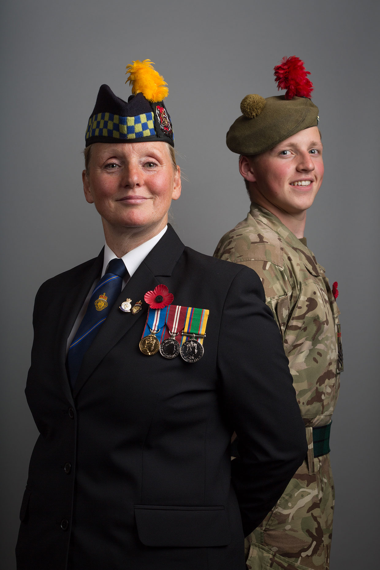 Portrait of Scottish Royal Legion members, by Scotland photographer J. Sutton-Hibbert