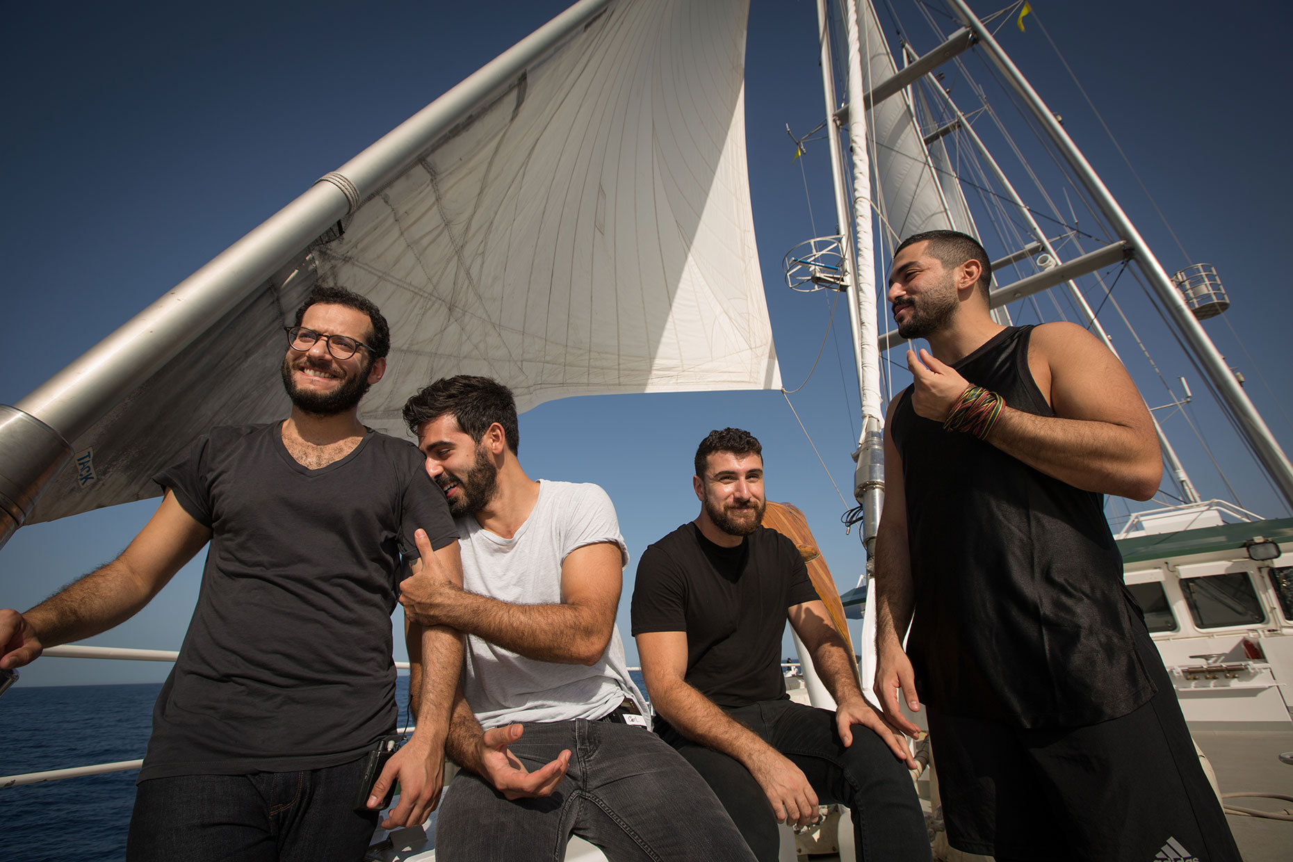 Mashrou Leila, Lebanese rock band, on Greenpeace Rainbow Warrior ship