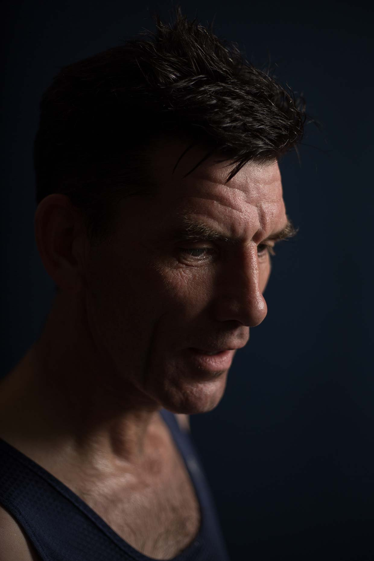 Portrait of Bellahouston Harriers runner Paul, by Scotland photographer