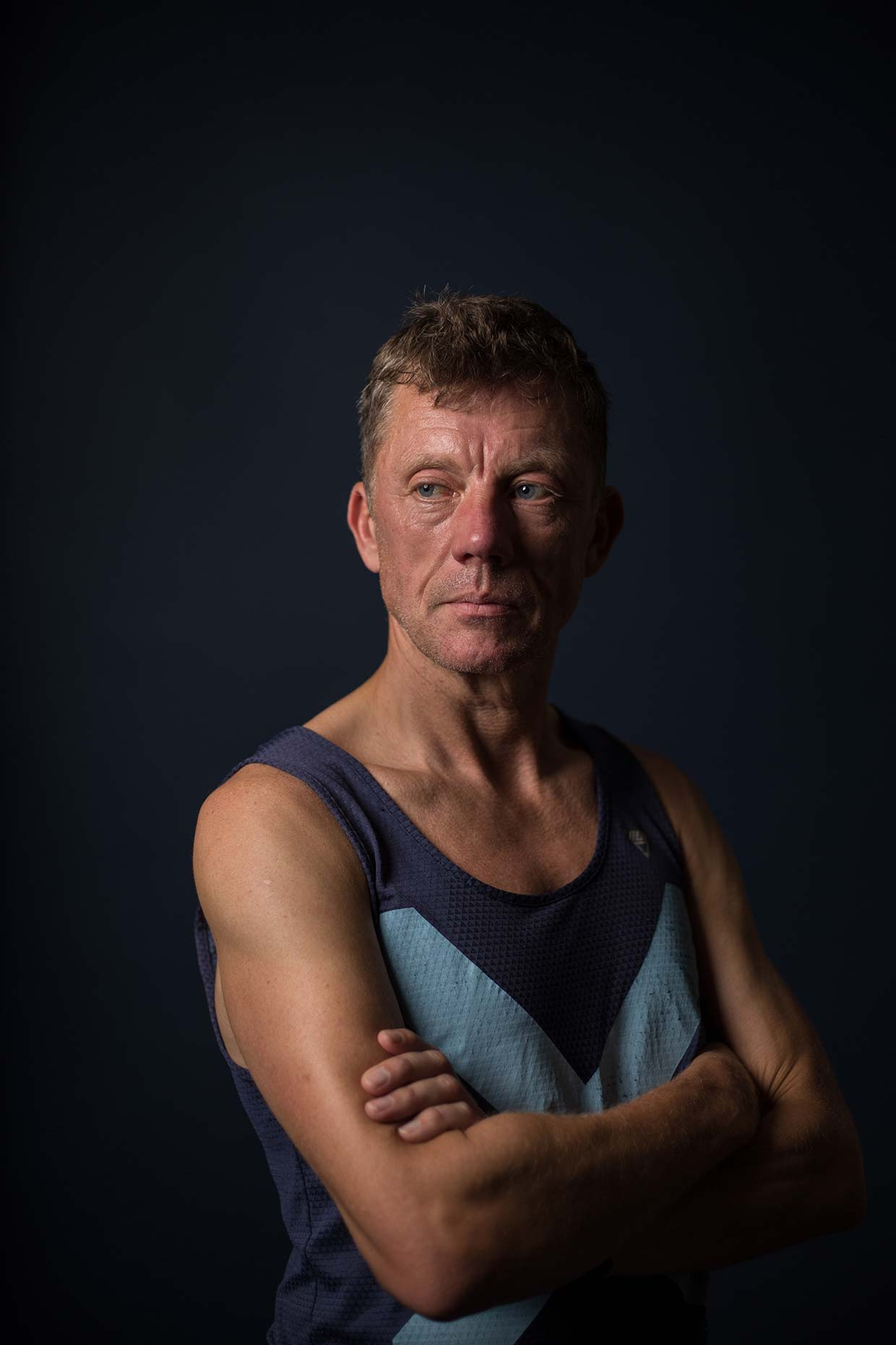 Portrait of runner at Bellahouston Harriers, by Scotland photographer