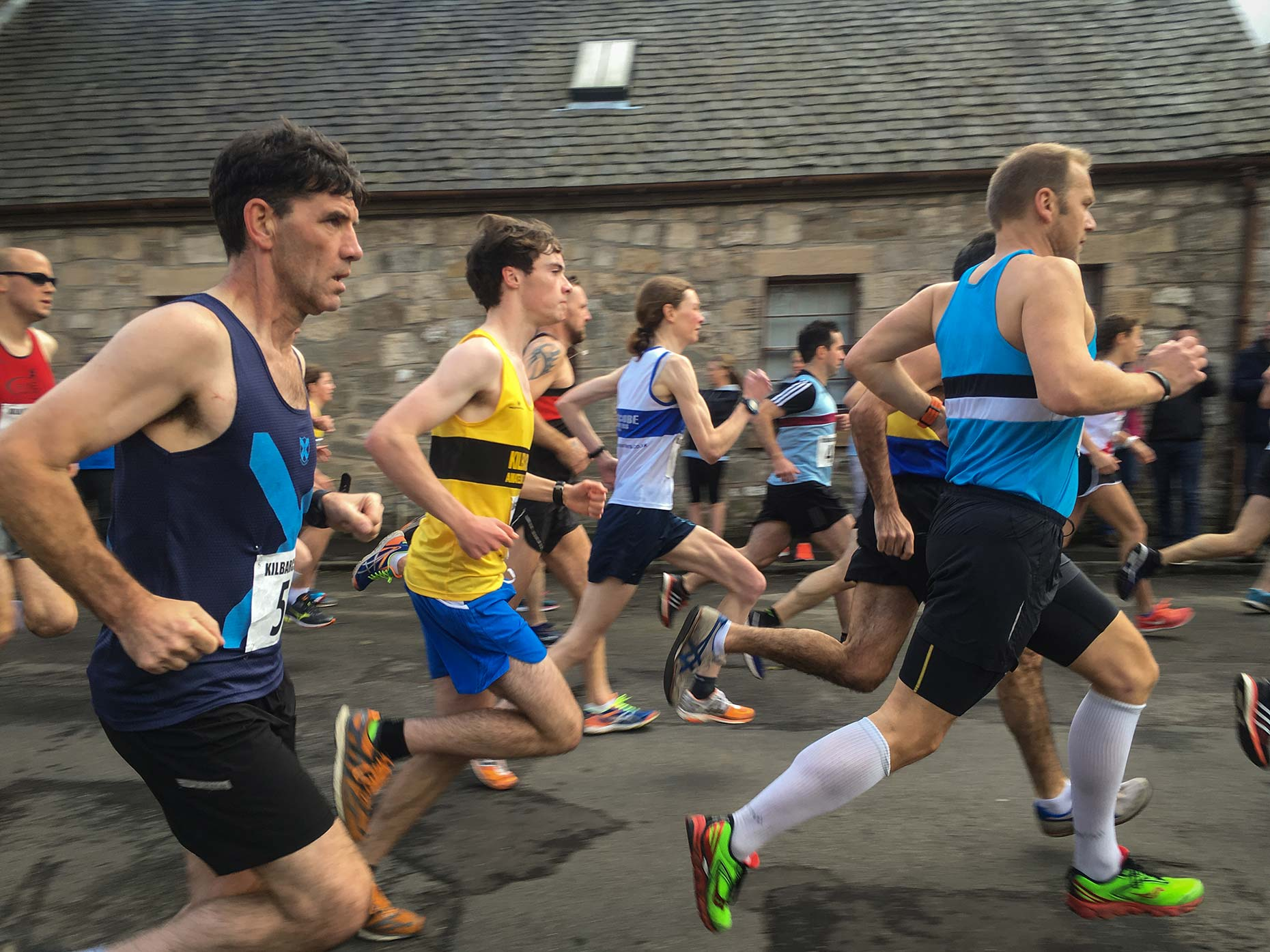 Running club athletes by Scotland photographer