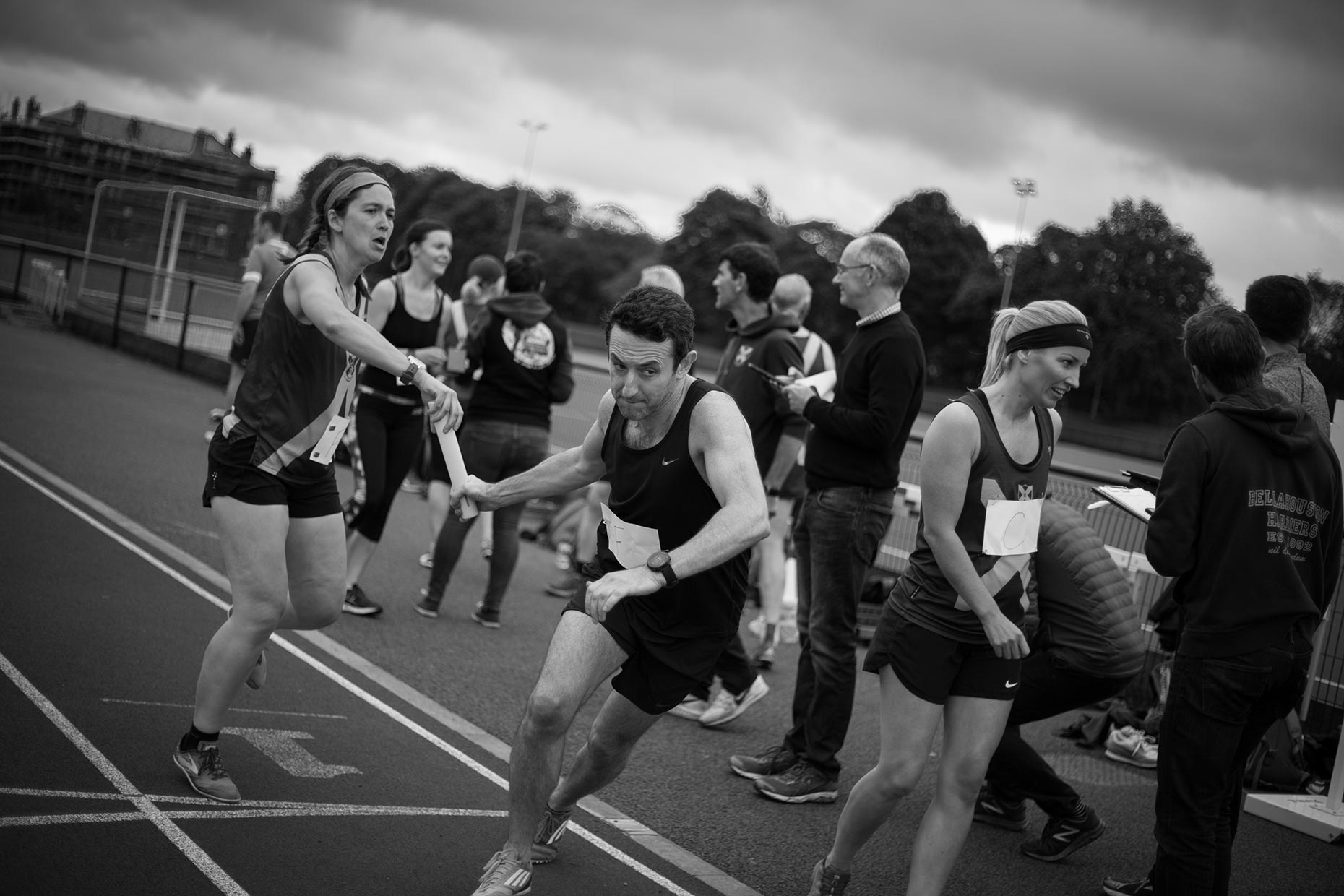 Portrait of Running club track athlete by Scotland photographer