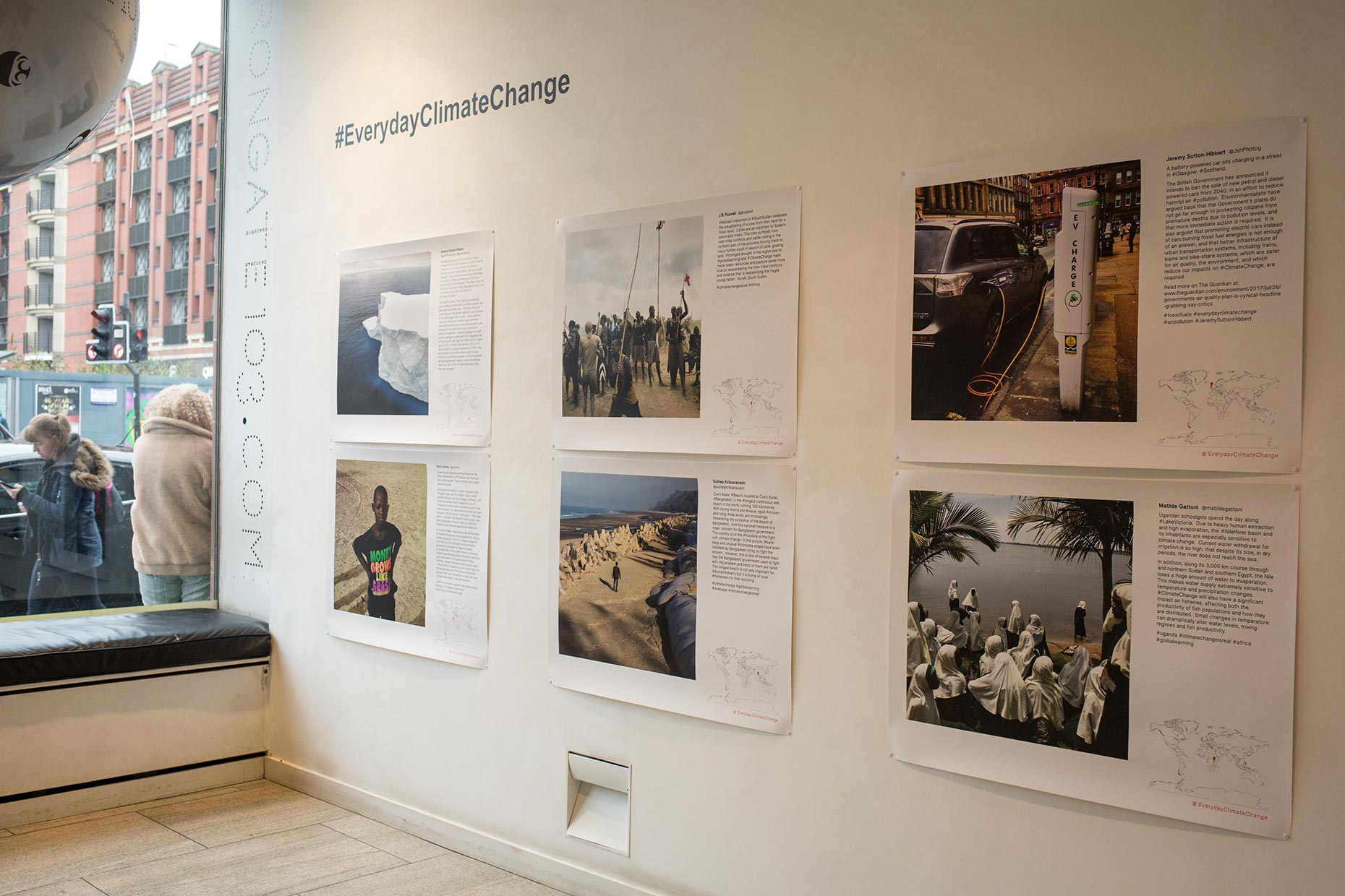 Everyday Climate Change photography exhibition, at Trongate 103, Glasgow, Scotland