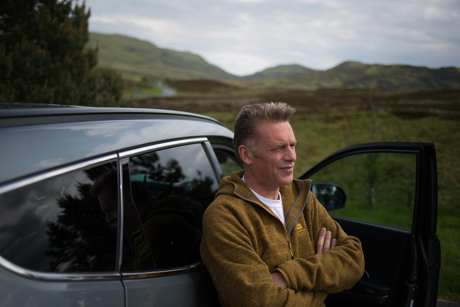 Portrait of Chris Packham, television presenter and environmentalist, Scotland