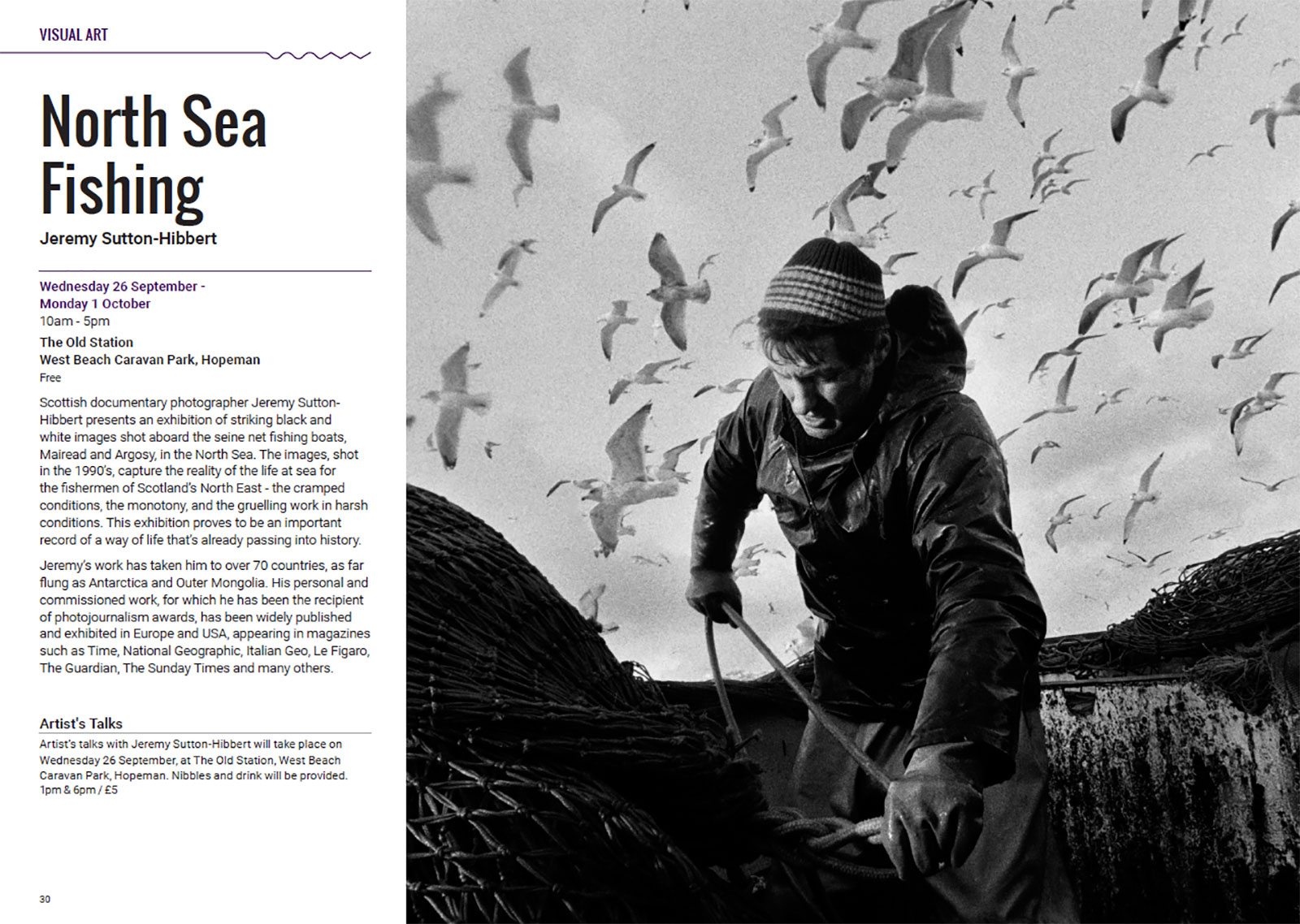 North Sea Fishing photography exhibition, Findhorn Bay Arts