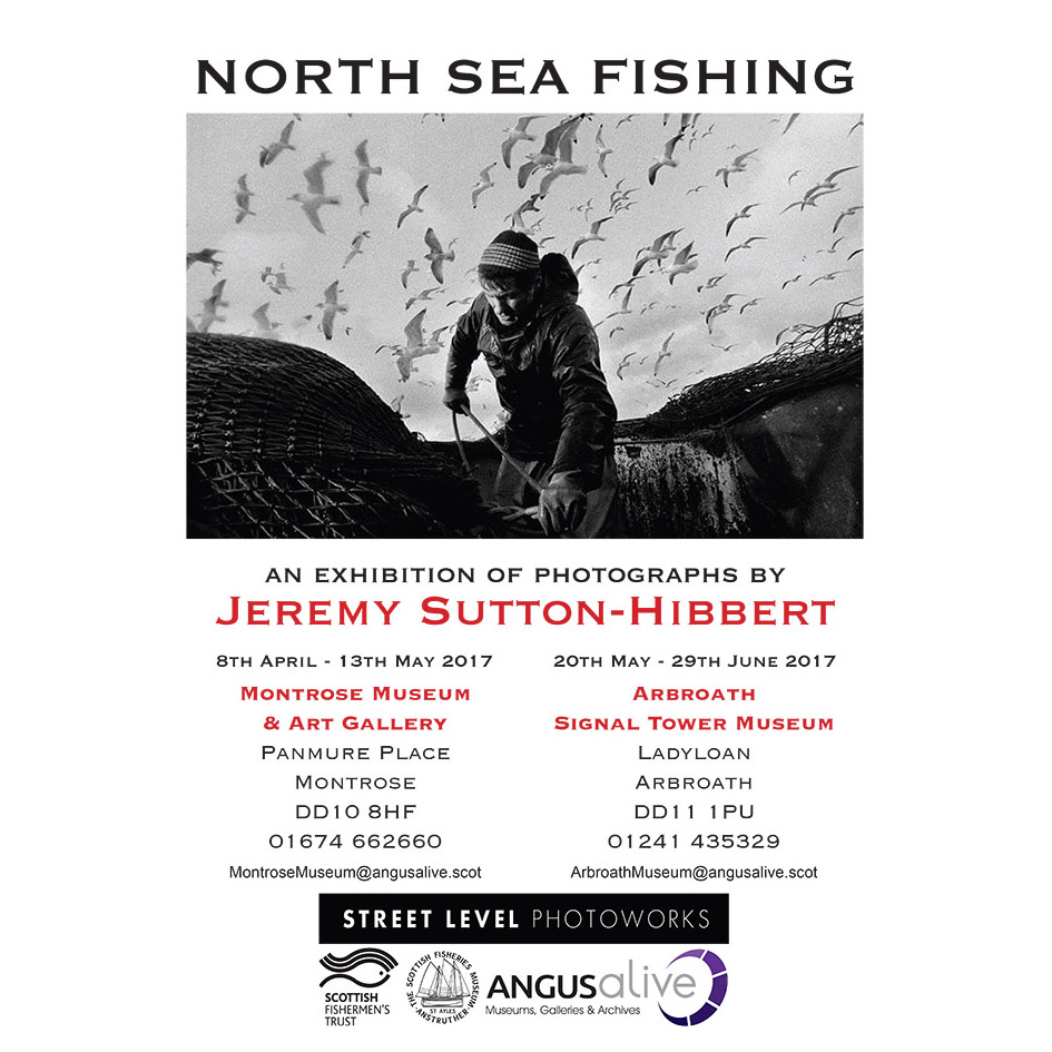 North Sea Fishing photography exhibition poster.